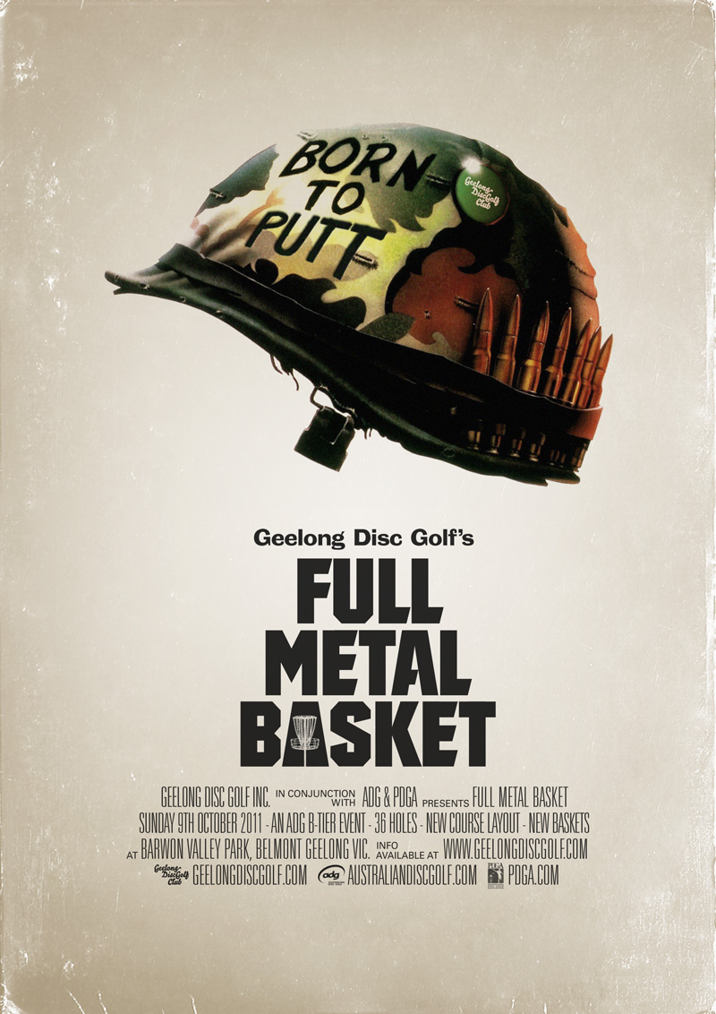 Geelong Disc Golf's FULL METAL BASKET